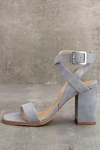 Steve Madden Irenee Light Blue Heels Ankle Strap Heels