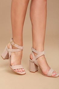 Chinese Laundry Sitara Rose Suede Leather High Heel Sandals