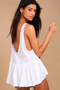 Free People Cantina White Tank Top at Lulus.com!