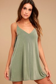 Back In Love Sage Green Swing Dress