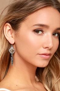 Symbolism Silver Earrings