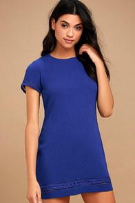 Perfect Time Royal Blue Shift Dress