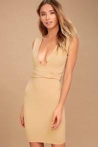 River Deep Nude Bodycon Dress