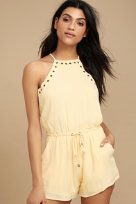 Believer Light Beige Romper