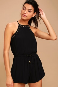 Believer Black Romper