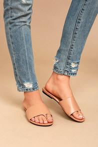 Analia Tan Slide Sandals