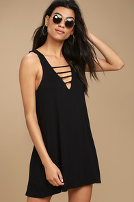 Lucy Love Cage Black Mini Dress