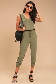 Olive & Oak Scarlett Olive Green Jumpsuit