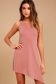 Deep in Thought Mauve Shift Dress