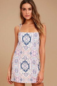 That's What I Like Blush Pink Print Shift Dress