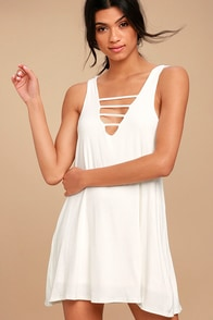 Lucy Love Cage White Mini Dress