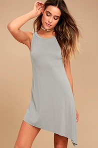 Deep in Thought Grey Shift Dress
