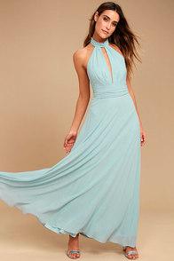 First Comes Love Light Blue Maxi Dress