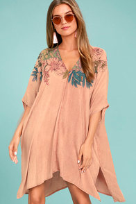O'Neill Tess Blush Pink Print Cover-Up