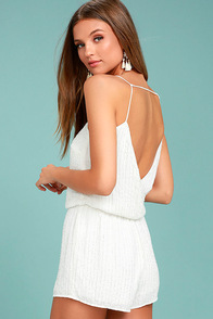 From This Day Forward Ivory Beaded Romper 1