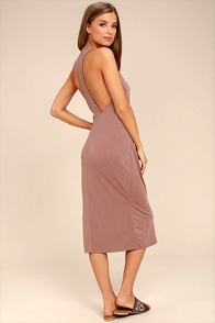 On the Veranda Mauve Midi Dress