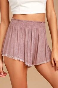 Darrah Mauve Pink Print Shorts