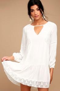 Somedays Lovin' The Whispering Ivory Lace Long Sleeve Dress