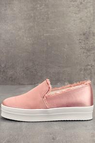 Magara Blush Satin Flatform Slip-On Sneakers
