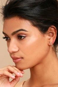 Starlight Night Gold Rhinestone Earrings