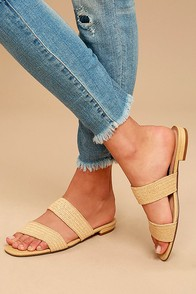 Steven by Steve Madden Friendsy Natural Multi Slide Sandals