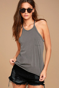 Others Follow Allyson Grey Tank Top