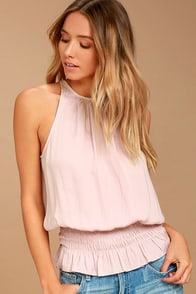 Cherished Memories Blush Pink Sleeveless Top