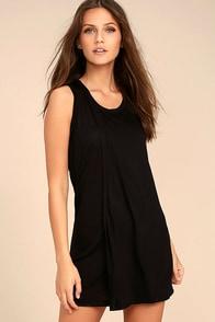 Simply Fantastic Black Shift Dress