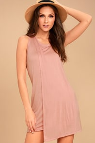 Simply Fantastic Blush Pink Shift Dress