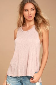 Project Social T James Blush Tank Top