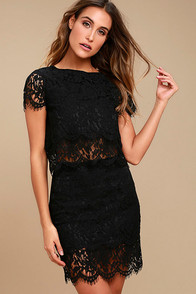 Live For the Night Black Lace Skirt