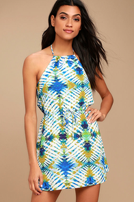 Jack by BB Dakota Peggy White Print Halter Dress