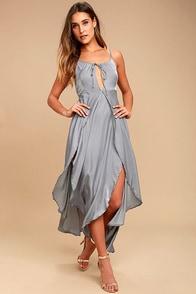 Somedays Lovin' Night Hour Grey Midi Dress