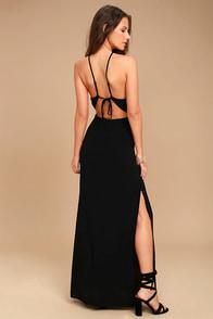 ASTR the Label Petra Black Lace Maxi Dress