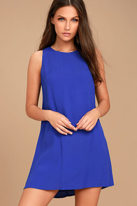 Sassy Sweetheart Royal Blue Shift Dress