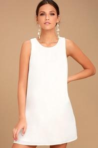 Vintage Inspired Wedding Dresses Sassy Sweetheart White Shift Dress $42.00 AT vintagedancer.com