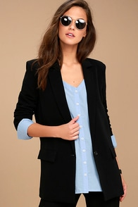 Head-Turning Black Blazer