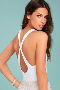 Free People Up and Around White Bodysuit
