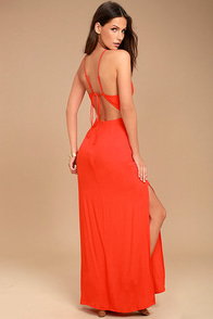 ASTR the Label Petra Red Lace Maxi Dress