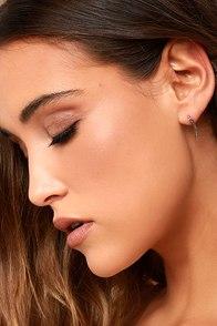 Starlight Night Silver Rhinestone Earrings
