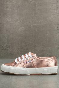 Superga 2750 COTMETU Rose Gold Leather Sneakers