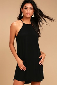 Lucy Love Mulholland Black Swing Dress