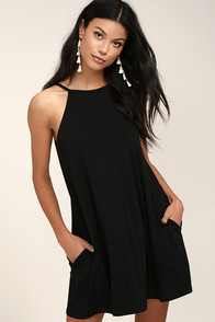 RVCA Pipe Dream Black Swing Dress