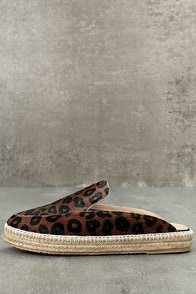 KAANAS La Jolla Cheetah Pony Fur Loafer Slides