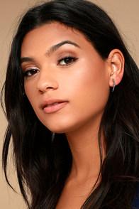 Simply Flawless Silver Rhinestone Earrings