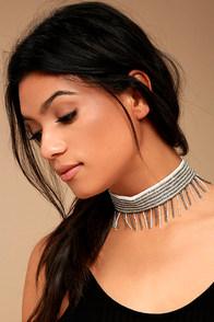 New Friends Colony Saree Ivory Beaded Choker Necklace