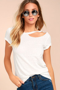 Flashing Lights White Tee