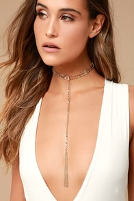 Ettika Roaming Roads Gold Choker Necklace
