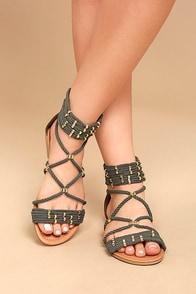 Pria Khaki Gladiator Sandals