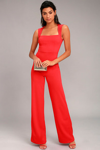 Enticing Endeavors Red Jumpsuit